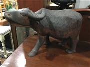 Sale 8795 - Lot 1063 - Carved Buffalo