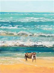 Sale 8847A - Lot 5057 - Eddi Kewley - Cow at Noosa 99.6 x 75cm