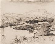 Sale 8881 - Lot 599 - Lloyd Rees (1895 -1998) - Illawarra Landscape 20 x 24.5 cm