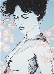 Sale 9009A - Lot 5038 - David Bromley (1960 - ) - Charlotte with Flowers 94 x 68 cm (frame: 113 x 88 x 5 cm)