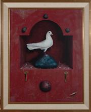 Sale 9023H - Lot 72 - GRAEME TOWNSEND, (b. 1954 ) White Doves Alcove 1992 oil on canvas SLR 70X 54cm  Provenance: Holland Fine Art  July 1992