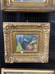 Sale 9041 - Lot 2011 - Artist Unknown Summer Fruit gouache on paper, 43 x 48cm (frame)