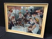 Sale 9050 - Lot 2095 - Pierre-Auguste Renoir, Boating Party, decorative print, frame: 62 x 48 cm