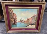 Sale 9082 - Lot 2041 - L. Laugelli Venice oil on canvas 78 x 88cm (frame)