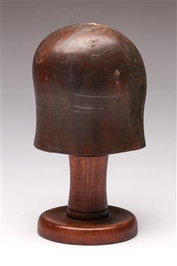 Sale 9114 - Lot 68 - Vintage Timber Hat Block (h. 30cm)