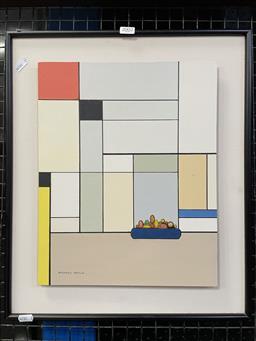 Sale 9113 - Lot 2002 - Doyle, Michael - Still Life a la Mondrian, acrylic, SLL, 38x30cm -