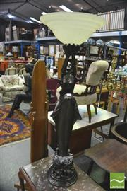 Sale 8352 - Lot 1048 - Dolphin Figural Base Floor Lamp
