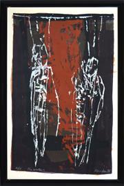 Sale 8394 - Lot 603 - David Rankin (1946 - ) - The Brothers, 1988 120 x 79cm