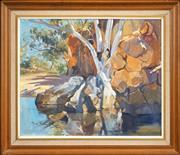 Sale 8427 - Lot 502 - Pamela Thalbon-Ball (1927 - ) - Tranquil Stream, 1974 50 x 60cm