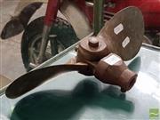 Sale 8493 - Lot 1049 - Vintage Brass Boat Propeller