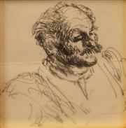 Sale 8642 - Lot 577 - William Dobell (1899 - 1970) - Shakespearean Actor, no. 63 9.5 x 8.5cm