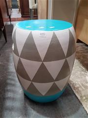 Sale 8777 - Lot 1092 - Painted Ceramic Stool