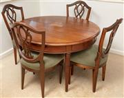 Sale 8976H - Lot 45 - A Continental Louis XVI style circular dining table (two demi-lunes) Height 74cm diameter 122cm