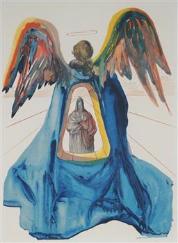 Sale 9161A - Lot 5080 - SALVADOR DALI (1904 - 1989) - Dante Purified 33 x 25.5 cm (frame: 64 x 57 x 3 cm)