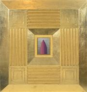 Sale 8382 - Lot 513 - Jim Thalassoudis (1966 - ) - Untitled (Tower), 1992 11.5 x 15.5cm, (frame size: 86.5 x 90.5cm)