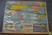 Sale 8487 - Lot 2027 - Vintage Chas H Scally Educational Map of the World and Universe