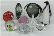 Sale 8422 - Lot 83 - Eamonn Vereker Art Glass Pig with Other Glass incl Strathearn