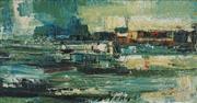 Sale 8504 - Lot 504 - Reinis Zusters (1919 - 1999) - Cityscape 39.5 x 75cm