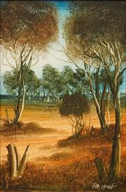 Sale 8642 - Lot 524 - Kevin Charles (Pro) Hart (1928 - 2006) - Outback & Beyond, No. 4 30 x 20cm