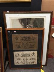 Sale 8771 - Lot 2082 - 2 Works: The Illustrated Sporting and Dramatic News - The Game of Football & WB Woollen - Rugby Print -