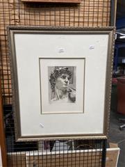 Sale 8932 - Lot 2098 - Lucia Cabrucci - Head of the Statue of David, print 25/150