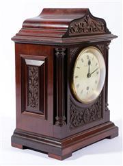 Sale 9010 - Lot 22 - A Brockbank & Atkins, London Mantle Time Piece No. 12278, with Fusee Movement (key & Pendulum) (H:32cm W:22.5cm D:15cm)