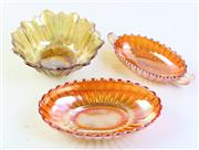 Sale 8997 - Lot 76 - Sunflower Carnival Glass Bowl t/w 2 Others