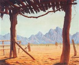 Sale 9047A - Lot 5055 - Clif Peir (1905 - 1985) - Towards Flinders Ranges 49.5 x 60 cm (frame: 62 x 73 x 4 cm)