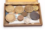 Sale 9052 - Lot 350 - Collection of Medals and Coins inc Penny Farthing