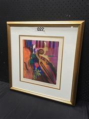 Sale 9053 - Lot 2063 - Artist Unknown, Symphony, etching and aquatint ed. 24/200, frame: 55 x 54 cm