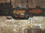 Sale 9067 - Lot 523 - Francis Lymburner (1916 - 1972) - Thames at Battersea 52.5 x 72 cm (frame: 67 x 86 x 3 cm)