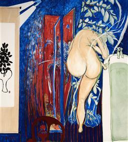 Sale 9174JM - Lot 5093 - BRETT WHITELEY (1939 - 1992) Bathroom Nude decorative print 51 x 45.5 cm (frame: 72 x 68 x 3 cm)