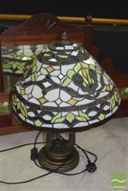 Sale 8390 - Lot 1101 - Leadlight Table Lamp
