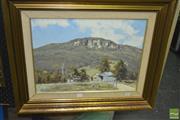 Sale 8425T - Lot 2021 - Allan Fizzell (1944 - ) - Kangaroo Valley Farm, 1976 37.5 x 49.5cm