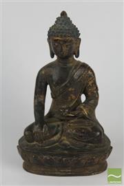 Sale 8508 - Lot 32 - Bronze Seated Buddha Figure ( H 15cm)