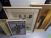 Sale 8513 - Lot 2075 - Quantity of (4) Various Artworks incl. A.I.F Decorative Prints, English School Watercolour, and Australian Outback Scene.
