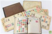 Sale 8560 - Lot 91 - Early Stamp Albums containing Some Pre 1930s Stamps
