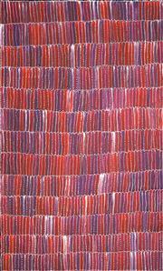 Sale 8633 - Lot 579 - Jeannie Mills Pwerle (1965 - ) - Bush Yam 150 x 90cm