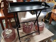 Sale 8688 - Lot 1063 - Ebonised Tray Table on Stand