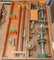 Sale 8984W - Lot 537 - Surveyors Sirius Precision Chaining Equipment in a fitted timber box made by E Sale & Sons Hunter St Sydney and Marked MWS & DBSTI,...