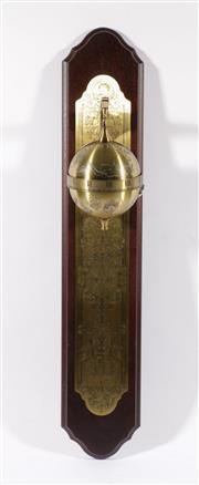 Sale 9003C - Lot 669 - Sir Francis Drake Falling Ball clock (L77cm)