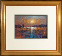 Sale 9256H - Lot 55 - Mel Brigg - Red Sunset signed lower left, ex Joans Ridge St Gallery, 1993.