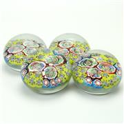 Sale 8399 - Lot 91 - Murano Castellani Millefiori Set of Four Paperweights