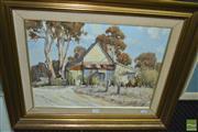 Sale 8425T - Lot 2028 - Allan Fizzell (1944 - ) - Bermagui Cottages, 1976 37.5 x 49.5cm