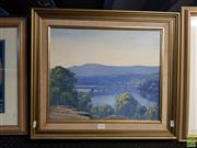 Sale 8613 - Lot 2090 - Henry Junn - Shoalhaven River, 1977, oil on canvas board, 37 x 44.5cm, signed and dated lower left