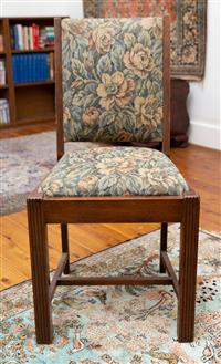 Sale 8735 - Lot 55 - A floral tapestry covered chair