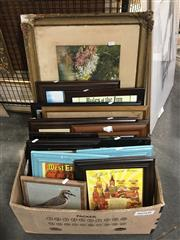 Sale 8730 - Lot 2089 - 17 Framed Pictures, Painting, Ads etc