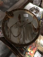Sale 8802 - Lot 362 - Erte Sevenarts Ltd Plaque (Diameter: 20cm)