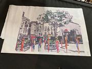Sale 8824 - Lot 2069 - Decorative Print, on canvas (unstretched)