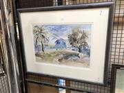 Sale 8833 - Lot 2050 - Suzanne Caddy - Sydney Harbour Scene watercolour, 59 x 73cm, signed